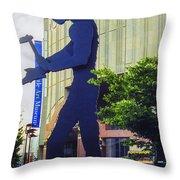 Hammering Man Throw Pillow