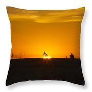 Hammering The Sun Throw Pillow