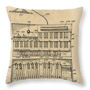 Hammond Organ Patent Throw Pillow
