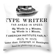 Hammond Typewriter, 1889 Throw Pillow