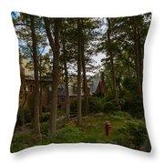 Hammonds Castle Yard Throw Pillow
