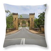 Hampden Bridge Kangaroo Valley Throw Pillow