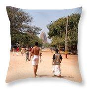 Hampi Bazzar Street Scenes Throw Pillow