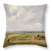 Hampstead Heath, C.1820 Throw Pillow