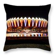 Hampton Coliseum Christmas Throw Pillow