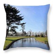 Hampton Court Palace Moat England Throw Pillow