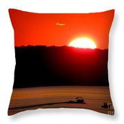 Hamptons Sunset Throw Pillow