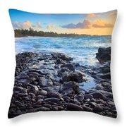 Hana Bay Sunrise Throw Pillow by Inge Johnsson