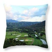 Hanalei Valley Throw Pillow