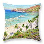 Hanauma Bay - Oahu Throw Pillow