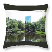 Hancock Building From Lagoon Throw Pillow