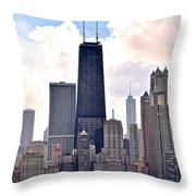 Hancock Building In Chicago Throw Pillow
