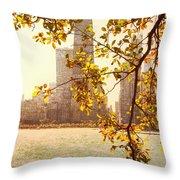 Hancock In Fall Throw Pillow