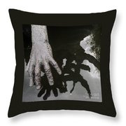 Hand At The Children Of Lir Statue, Dublin Throw Pillow