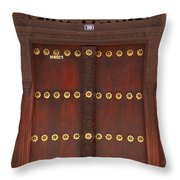 Hand Carved Door Throw Pillow