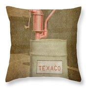 Hand-crank Oil Pump Throw Pillow