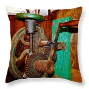 Hand Cranked Throw Pillow