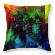 Hand Dyed 5 Throw Pillow
