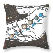 Hand Full Of Carbon Throw Pillow