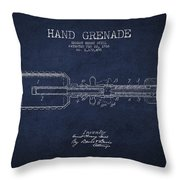 Hand Grenade Patent Drawing From 1916 Throw Pillow
