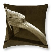 Hand Hoe Throw Pillow