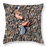 Hand In Gravel Throw Pillow by Stephan Pietzko
