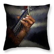 Hand Of A Spanish Guitarist Throw Pillow