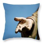 Hand Of Christ. Throw Pillow