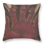 Hand Of God - Death Throw Pillow