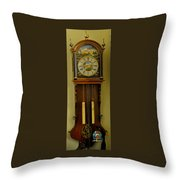 Hand Painted Clockwith Chimes Throw Pillow
