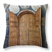 Hand-painted Gate Throw Pillow