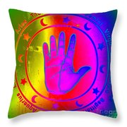 Hand Signs Throw Pillow