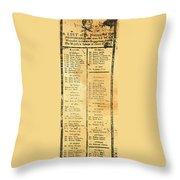 Handbill: Casualties, 1775 Throw Pillow