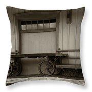 Handcarts Throw Pillow
