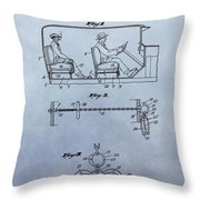 Handcuffs Law Enforcement Patent Throw Pillow