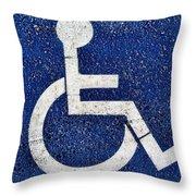Handicapped Symbol Throw Pillow