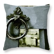 Handle On Blue Throw Pillow