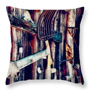 Handles And The Pitchfork Throw Pillow