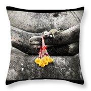 Hands Of Buddha Throw Pillow