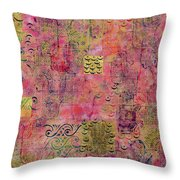 Hands Of Fatima With Crescent Moon And Stars Throw Pillow