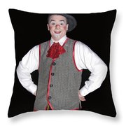 Handsome Clown At The Circus Throw Pillow