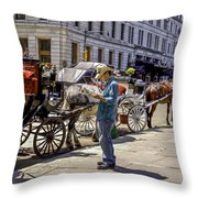 Handsome Hansom Driver  Throw Pillow