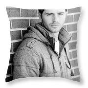 Handsome Man Throw Pillow