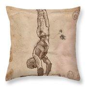 Handstand Throw Pillow