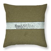 Handy Andy Wrench Throw Pillow