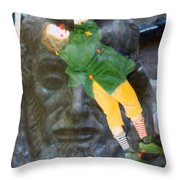 10079 Hang On There Throw Pillow