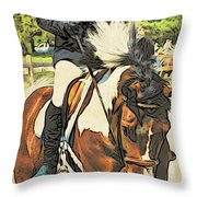 Hang On Tight To Your Painted Horse Throw Pillow