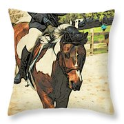 Hang On To Your Painted Horse Throw Pillow