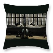 Hangar B Floyd Bennett Field Throw Pillow