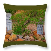Hanged In Tombstone Arizona Throw Pillow